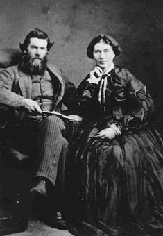Manoah Steves and his wife Martha, circa 1873